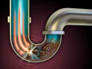 A clogged pipe