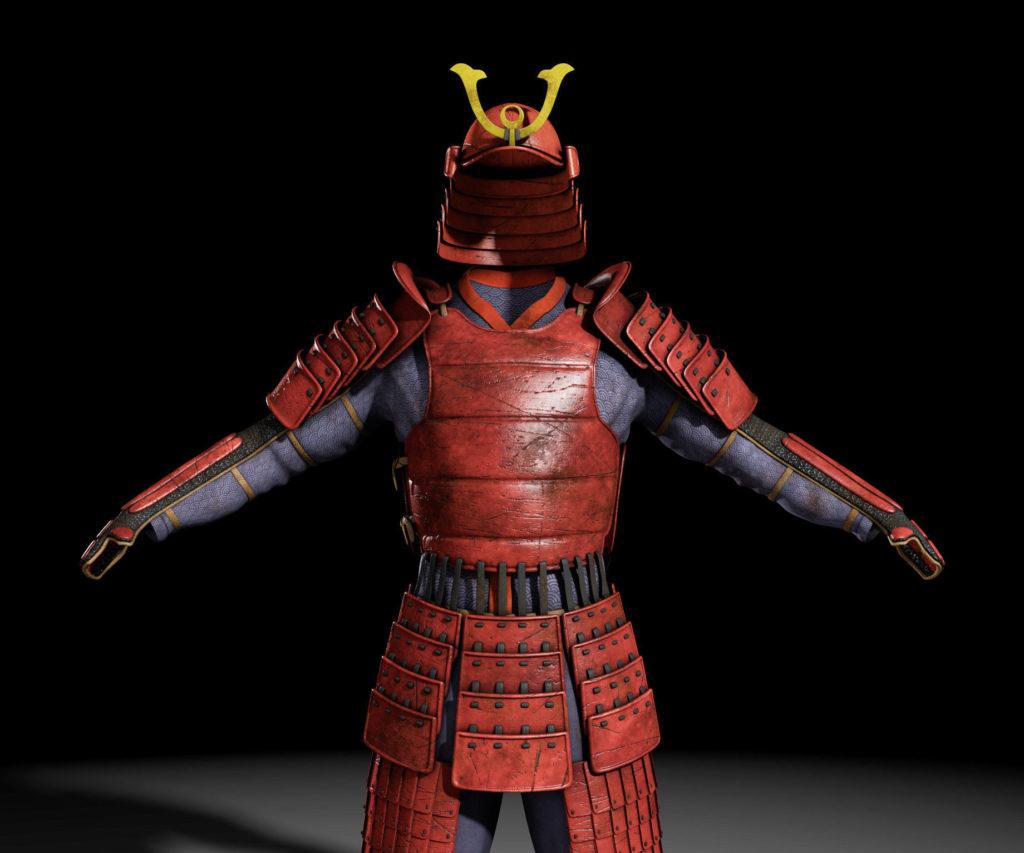 Artist's rendition of traditional Samurai armor.